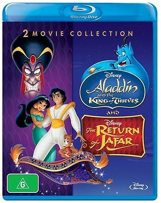 Aladdin - The Return Of Jafar / Aladdin And The King Of Thieves Blu-Ray : NEW