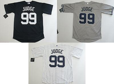 1c87ae033b6 NWT Aaron Judge  99 New York Yankees Cool Base Collection Jersey Home Road