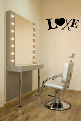 Vinyl Sticker Hair salon Barber Shop Love Sign Mural Decal Wall Art Decor ZX466