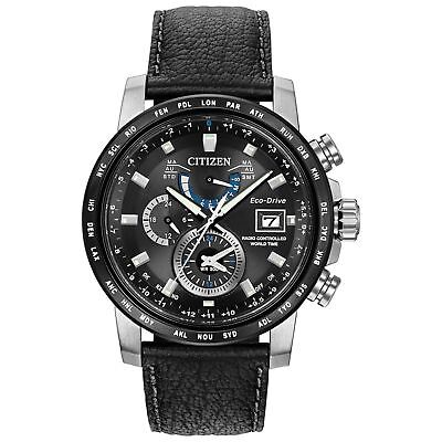 New Citizen AT9071-07E World Time A-T Eco Drive Chronograph Men's Watch