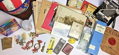 Huge Vintage To Now Junk Drawer Lot Old Photos Sports Camera Foreign Money Music