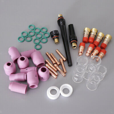 49x WP17/18/26 Series Tig Welding Torch Stubby Gas Lens Pyrex Glass Cup Kit