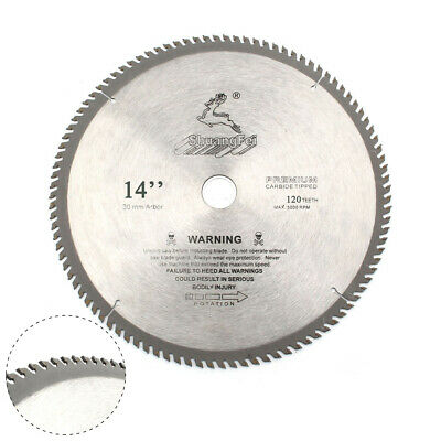 "Circular Saw Blade 14"" 120Teeth Woodwork Cutting Tool For Cut Off Wood Metal"
