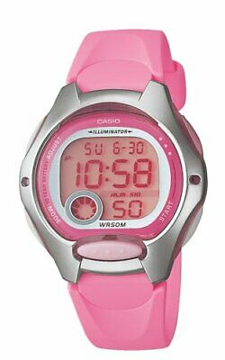 Casio Women's Quartz Digital Illuminator Pink Resin Band 35Mm Watch Lw200-4Bv