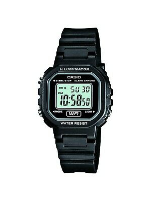 Casio Women's Quartz Illuminator Digital Black Resin Band 30.5mm Watch LA20WH-1A