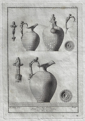 Bavardi's Le Lucerne ...  - TWO JUGS WITH FIGURAL HANDLES - Copper Eng. -1792
