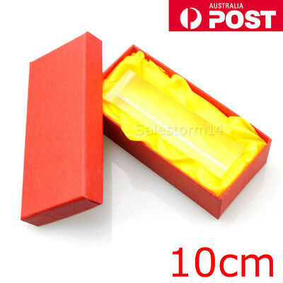 10cm Optical Glass Triple Triangular Prism Physics Refractor Light Spectrum NEW