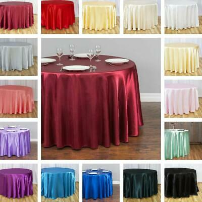 LinenTablecloth 108 in. Round Satin Tablecloth (33 Colors)