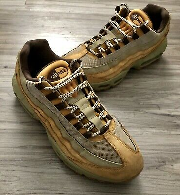 "new arrival 7357e 03132 Nike Air Max 95"" Premium Leather Wheat flax Brown bamboo (538416-"