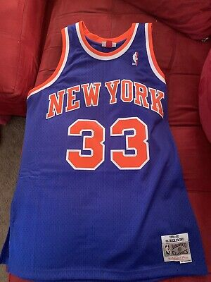 460a261c4a1 Hardwood Classics HWC Patrick Ewing New York Knicks NBA Jersey Sz L 100%  AUTHENT