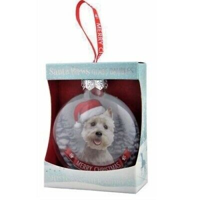 Westie Dog Christmas Tree Bauble In Gift Box Fast Despatch