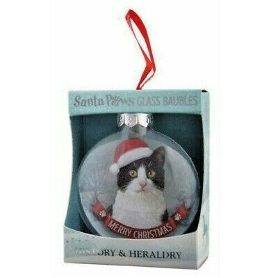 Black & White Tuxedo Cat Christmas Tree Bauble In Gift Box Fast Despatch