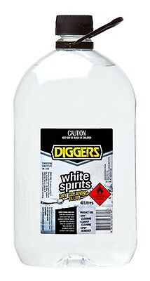 Diggers White Spirits Home Dry Cleaning Fluid 4 Litre
