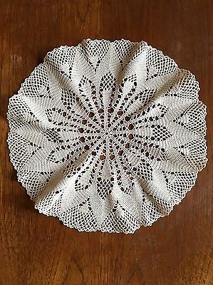 True Vintage Hand Crocheted Doily 32cm Centrepiece Crochet Dining Dressing Table