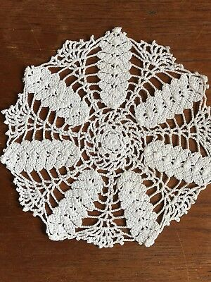 Vintage Centrepiece Doily White Hand Crochet Crocheted