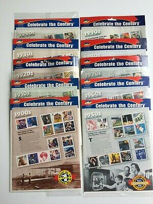 Celebrate The Century Full Set Ten (10) Sheets Of 15 Stamps Mint In Original