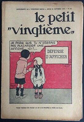 TINTIN THE Petit VingtiÈme n°44 du 31 octobre 1935 Condition correct