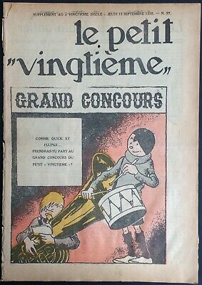 TINTIN THE Petit VingtiÈme n°37 du 12 september 1935 Condition correct