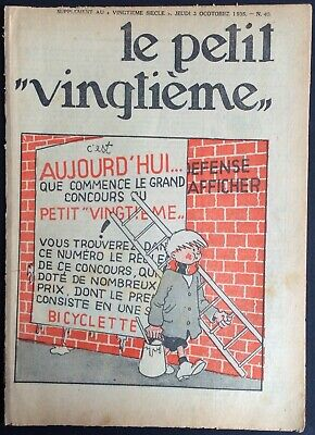 TINTIN THE Petit VingtiÈme n°40 du 3 octobre 1935 Condition correct