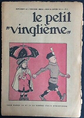 TINTIN THE Petit VingtiÈme n°3 du 23 janvier 1936 Condition medium