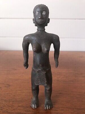 Antique Luba Female Carving D.R. Congo Central African Tribal Arts Buluba Wood