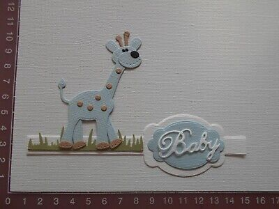 Die cuts - Giraffe(Assembled), Baby, Words, Card Toppers, Embellishments - Lot 2