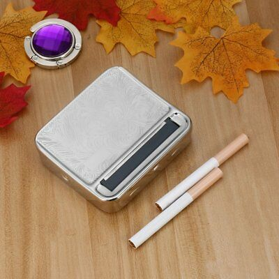 Metal Automatic Cigarette Tobacco Roller Roll Rolling Machine Box Case Tin RT