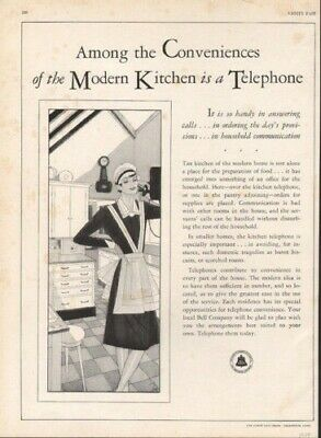1929 Bell Telephone Bakery Cook Communication Greenwich   Ad 9113