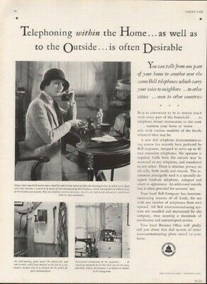 1930 Bell Company Telephone Telegraph Sdle Home Sew  Ad 9116