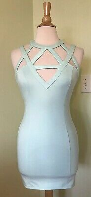 d5247f5445a Tobi Mint Green Strappy Sheat Dress Medium M NEW WITH TAGS FLAW mini