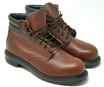 d65ab4b3cc396 RED WING SHOES Men's Brown Leather Supersole Steel Toe Boots Sz 9.5 E 2245  USA
