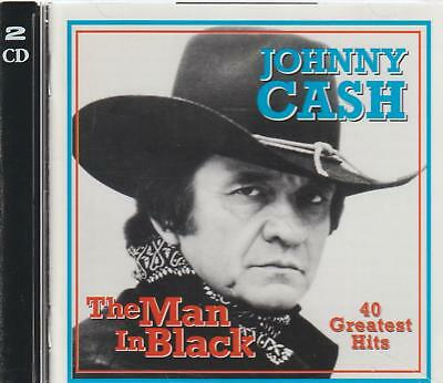 The  Man in Black by Johnny Cash 40 Greatest Hits (2 CDSet)