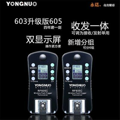 YongNuo RF605C 2.4GHz wireless remote control Flash Trigger for Canon Camera