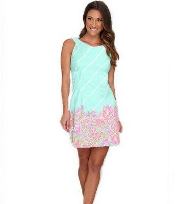 5aab4ce0e29ee8 Lilly Pulitzer Delia Shift Dress in Sand Bar Blue Crash Landing Size 6 A62