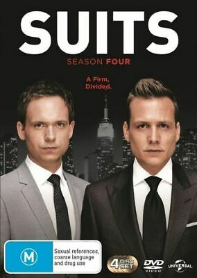 Suits : Season 4 (DVD, 4-Disc Set) NEW