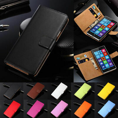 Luxury Magnetic Genuine Real Leather Flip Case Wallet Cover For HTC Mobile Phone