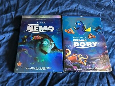 Finding Nemo & Dory 2-Movie DVD Set Disney Bundle Brand New + Free Shipping