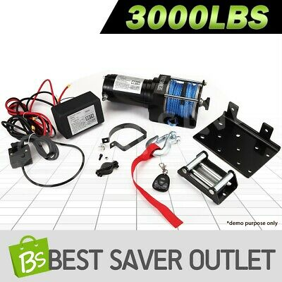 3000LBS/1325KGS 12V Wireless Electric Winch ATV Boat 4WD Synthetic Rope