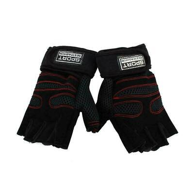 Men Weight Lifting Padded Strap Leather Gloves Fitness Training Gym Sport Hot.
