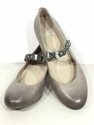 cf84604a6d4 Dansko Pearlina Women s Size 6.5-7(EU37) Stone Leather Mary Janes Shoes SK