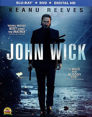 John Wick Blu-ray/DVD/Digital Widescreen 2 Disc Set Keanu Reeves Willem Dafoe