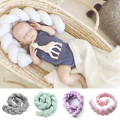 3M Baby Infant Plush Crib  Bed Bedding Cot Braid Pillows Pad