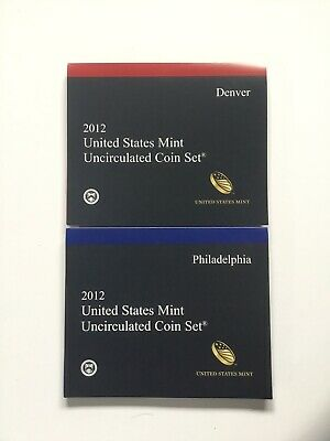 2012 US Mint Uncirculated P & D Complete Coin Set Unopened / Opened Box