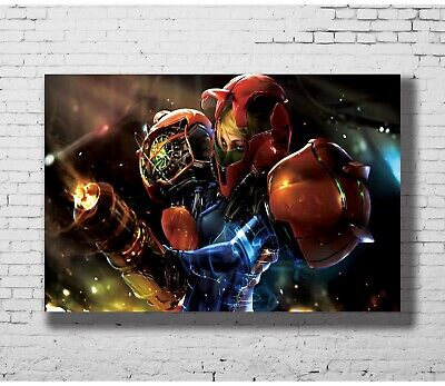 H436 Art New Super Metroid Huge Fighting Game Silk 24x36Inch Custom Poster
