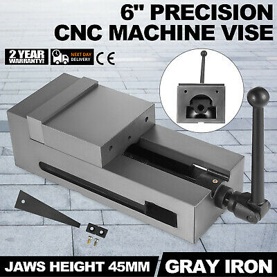 6'' Precision Bench CNC Clamping Vise Fixed Jaw Vertical Milling Grinded PRO