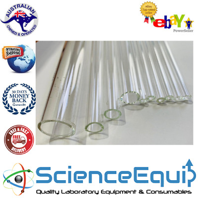 GLASS TUBING BLOW TUBES BOROSILICATE 1.8mm Thick Wall 6mm OD X 100mm- 10 Pieces