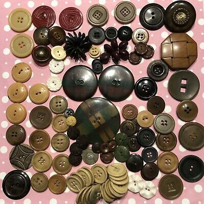 Vtg Lot Of Assorted Bakelite Celluloid Wood Plastic Vegetable Ivory? Buttons