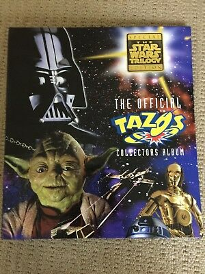 Star Wars Tazos -  Official Star Wars Collectors Album - 39 out of 60 tazos