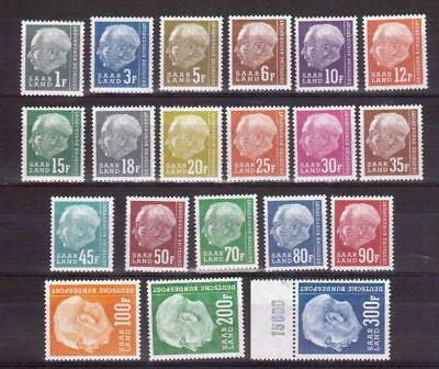 GERMANY SAAR 289-308 1957 Heuss set MNH