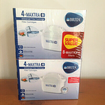 8 Pack Genuine Brita Maxtra Water Filter Cartridges Vacuum Package